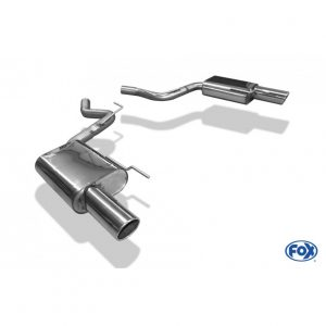 Ford Mustang Coupe & Cabrio - 4-Zylinder Endschalldämpfer rechts/links - 1x100 Typ 16 rechts/links