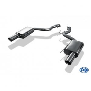 Ford Mustang Coupe & Cabrio - 4-Zylinder Endschalldämpfer rechts/links - 1x100 Typ 25 rechts/links