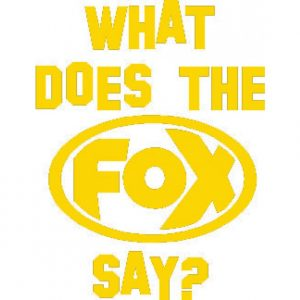 """FOX Sticker Melone """"What does the FOX say?"""" - geplottet Höhe: 120mm  Breite: 100mm"""