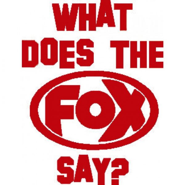 """FOX Sticker Rot """"What does the FOX say?"""" - geplottet Höhe: 120mm  Breite: 100mm"""