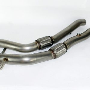 "RS6 4B C5 Hosenrohre Downpipe Downpipes 3"" 76mm V2"
